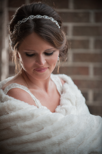 ak brides akbrides nicole and drew wedding day winter wedding white fur wrap